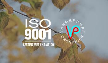 Gilleleje Køle- og Energiteknik er ISO 9001 certificeret